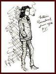 Rimbaud, giugno 1872 Disegno di Verlaine