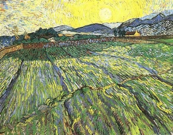 Vincent Van Gogh, Alba sui campi, 1889