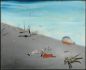 """Salvador Dalì - Etude pour """"Le Miel est plus doux que le sang, 1926, huile sur bois"""