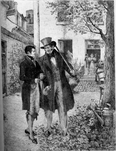 Rastignac e Vautrin nel cortile della Pension Vauquer