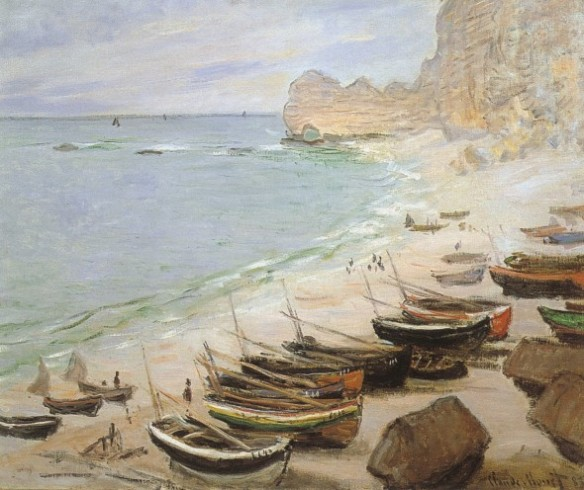 Bateaux à Etretat, 1883 (Barche a Etretat) olio su tela Fondation Bemberg, Toulouse-France