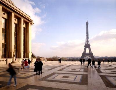 Esplanade du Trocadéro. Tour Eiffel