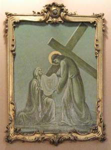 La Veronica asciuga il volto olio su tela - Carlo Cocquio (1899 - 1983)