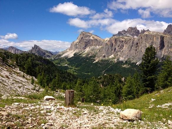 Lagazuoi, Falzaego, Sass de Stria viste dalle Cinque Torri (Ma Bohème - foto by Primula)