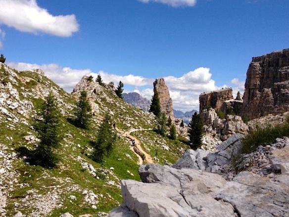 Rocce e ghiaioni sulle Cinque Torri (Ma Bohème - foto by Primula)