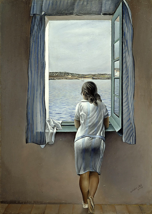 Salvador Dalì Ragazza alla finestra (Muchacha en la ventana) ,1925 Olio su tela, Museo Nacional Centro de Arte Reina Sofia - Madrid